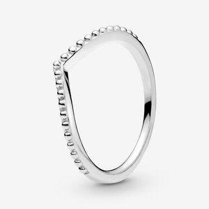 🍓Pandora Beaded Wishbone Ring